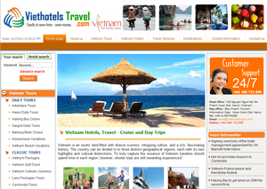 Thiết kế website công ty du lịch Việt Hotels